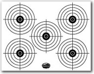 photo regarding Printable Bullseye Target identified as Printable Taking pictures Aims and Gun Goals NSSF