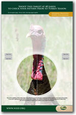picture regarding Printable Turkey Targets called Printable Taking pictures Objectives and Gun Aims NSSF